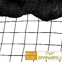 DQS 11 Bird Garden 1€ Mesh as Deer Netting, Tree Netti, Black