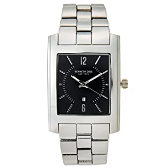 Kenneth Cole New York 10031326 Mens Analog Rectangular Watch Steel Bracelet