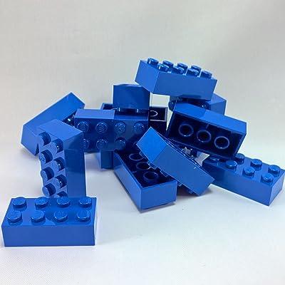 15 LEGO ladrillos color azul (2 x 4 pivotes, 15 unidades) - 3001: Juguetes y juegos