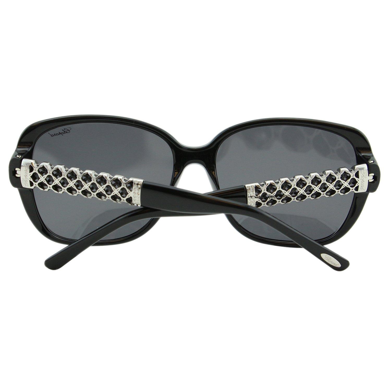 Chopard Imperiale SCH-184 700 Women Black Silver Metal Detail Square Sunglasses by Chopard (Image #6)