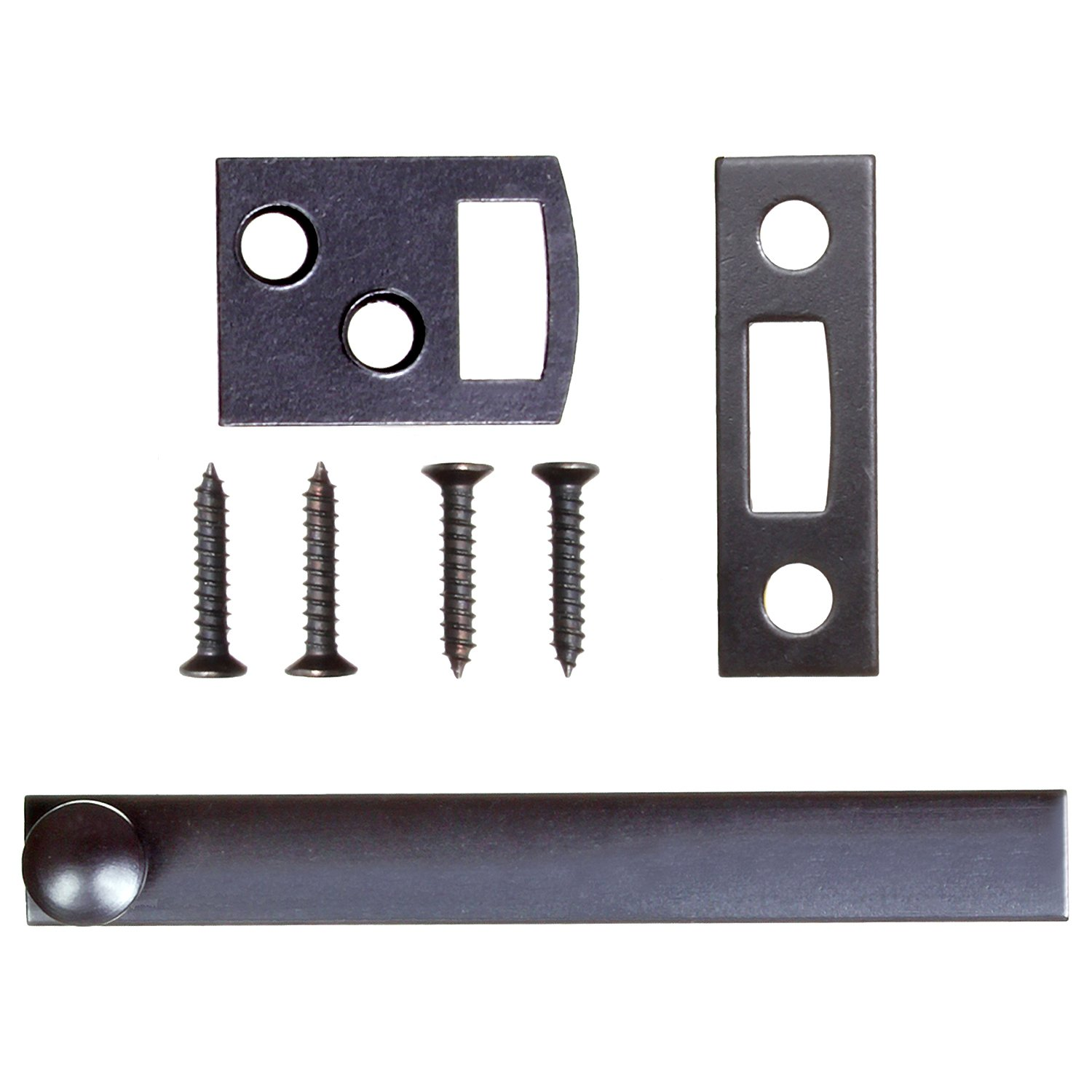 Ram-Pro 3 inch Surface Bolt - window bolt for household surface door bolt Durable flush mounted door bolt in oil-rubbed bronze brass surface latch surface bolts for doors door window bolt