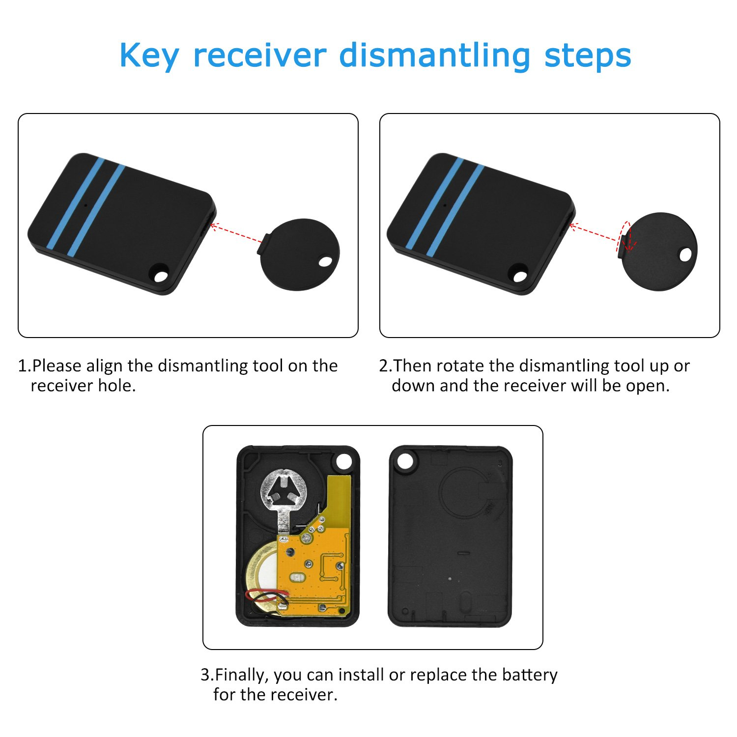 Key Finder, Sunvito 6 in 1 Wireless Tracker Remote Control Locator Device Anti-lost Keychain Keyring Support for Phone, Wallet, Luggage Alarm,1 RF Transmitter and 5 Receivers