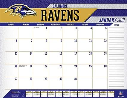 Ravens Calendar 2019 Amazon.: Turner Licensing Baltimore Ravens 2019 Desk Calendar