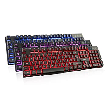 Rii RK100 Teclado mecánico AZERTY Feel Multicolor LED retroiluminado USB con cable, teclado Gaming: Amazon.es: Informática