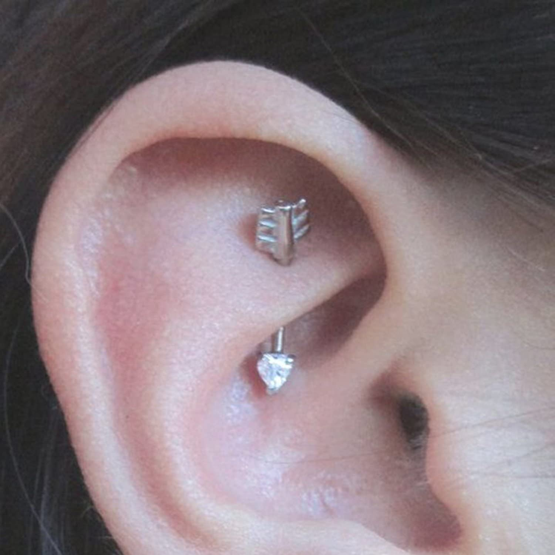 Amazon Com Arrow Rook Earrings Surgical Steel Daith Piercing