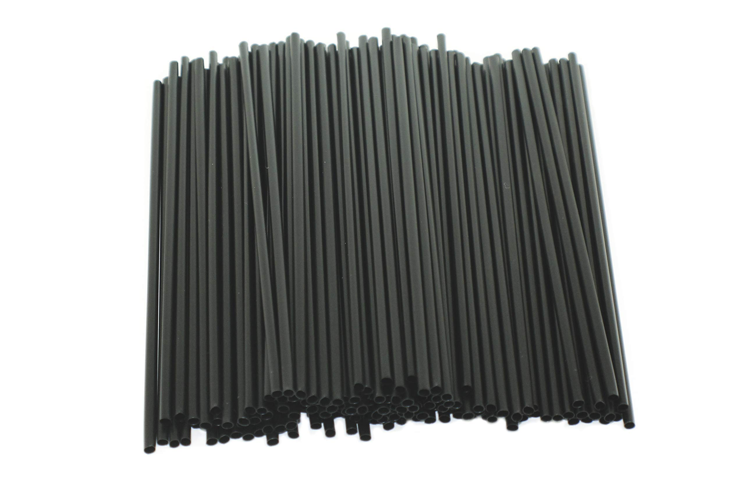 [12000 COUNT] 5'' Black Disposable Cocktail Straws Compostable PLA Stirrer Drink Restaurant Bar Specialty Drinks Stir Cafe Cappuccino Frappe 5 inches Long, Made of Corn, PLA, Sustainable by Harvest Pack GOURMET SHOWCASE