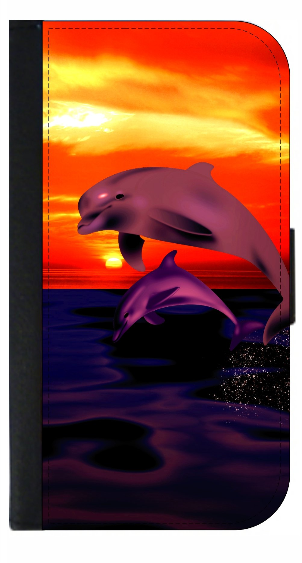 Playful Dolphins - Passport Cover / Card Holder for Travel