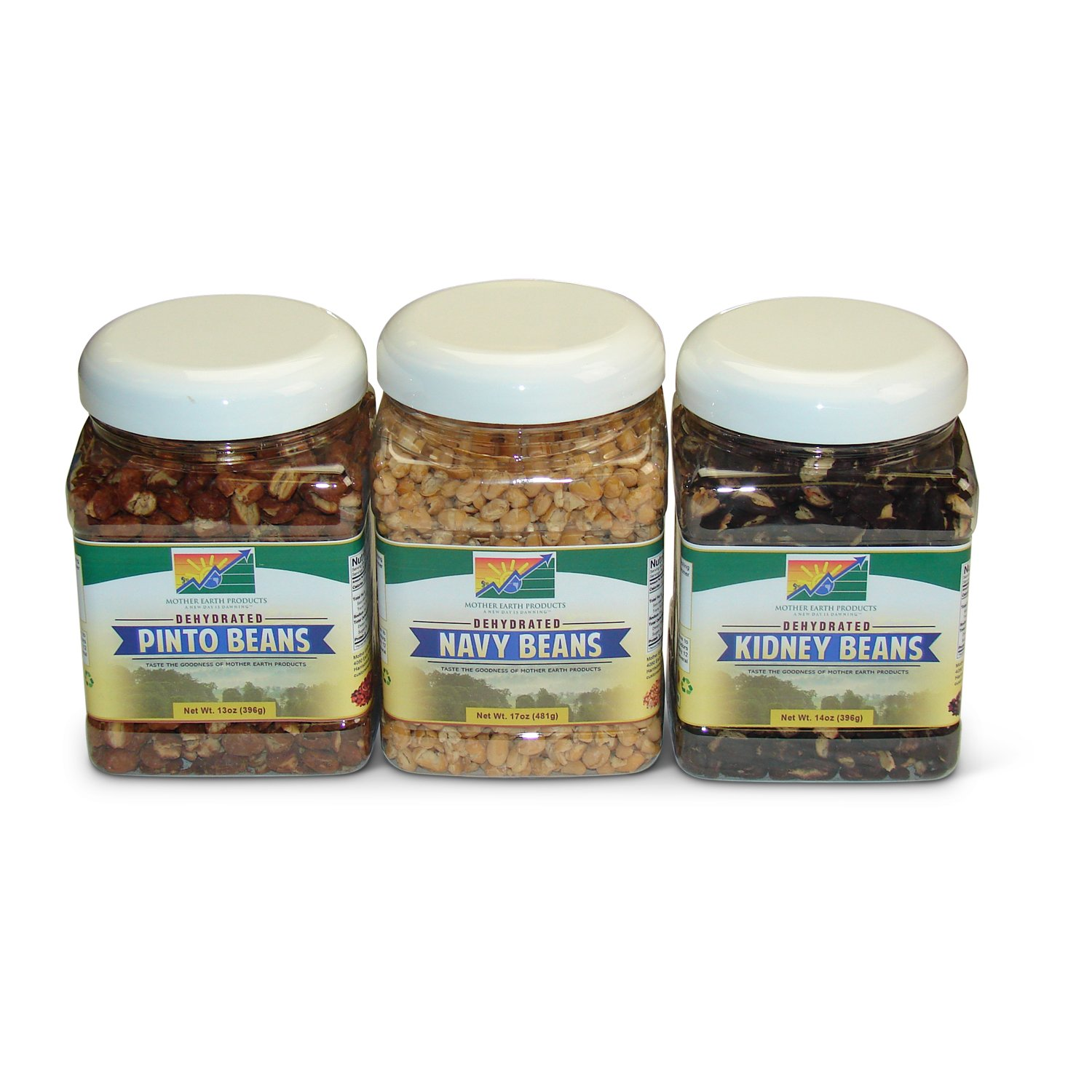Mother Earth Products Bean Value Medley: Pinto Beans, Navy Beans, and Red Kidney Beans by Mother Earth Products