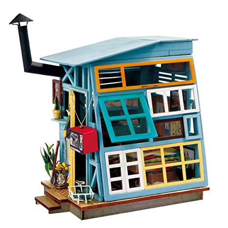 Amazon Com Rolife Miniature Dollhouse Kits With Accessories Model