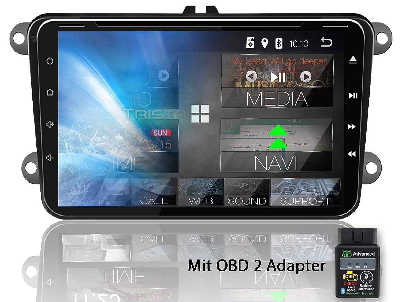 USB//SD GPS Navi DAB+ Box f/ür VW Skoda Seat 2 DIN Android 8.1 Tristan Auron BT2D7023VW Digitalradio Quad Core Bluetooth Freisprecheinrichtung OBD 2 7 Touchscreen Bildschirm