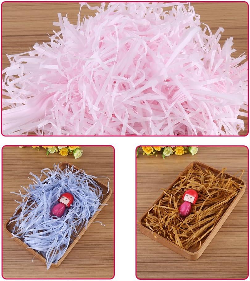 100g Colored Shredded Tissue Paper Bags Hamper Basket Paper Filler Packing FG