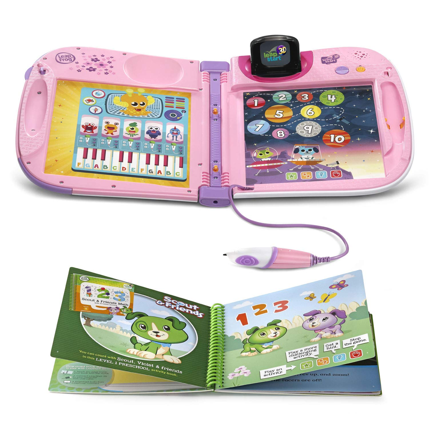 LeapFrog LeapStart 3D Interactive Learning System Amazon Exclusive, Violet by LeapFrog (Image #2)