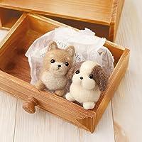 Hamanaka wool felt kit Shiba Inu & Shih Tzu H441-341 (japan import) by Hamanaka