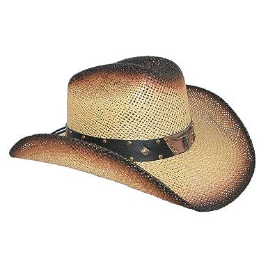 e441f06757ad0 Wild Bill Hats Men s Straw Long Horn Western Cowboy Hat
