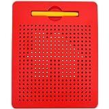 ISABELLE Les Jouets pour Enfants Planche à Dessin magnétique de Billes en Plastique d'une Tablette de Créativité Joli Jouet pour Enfant/Rouge