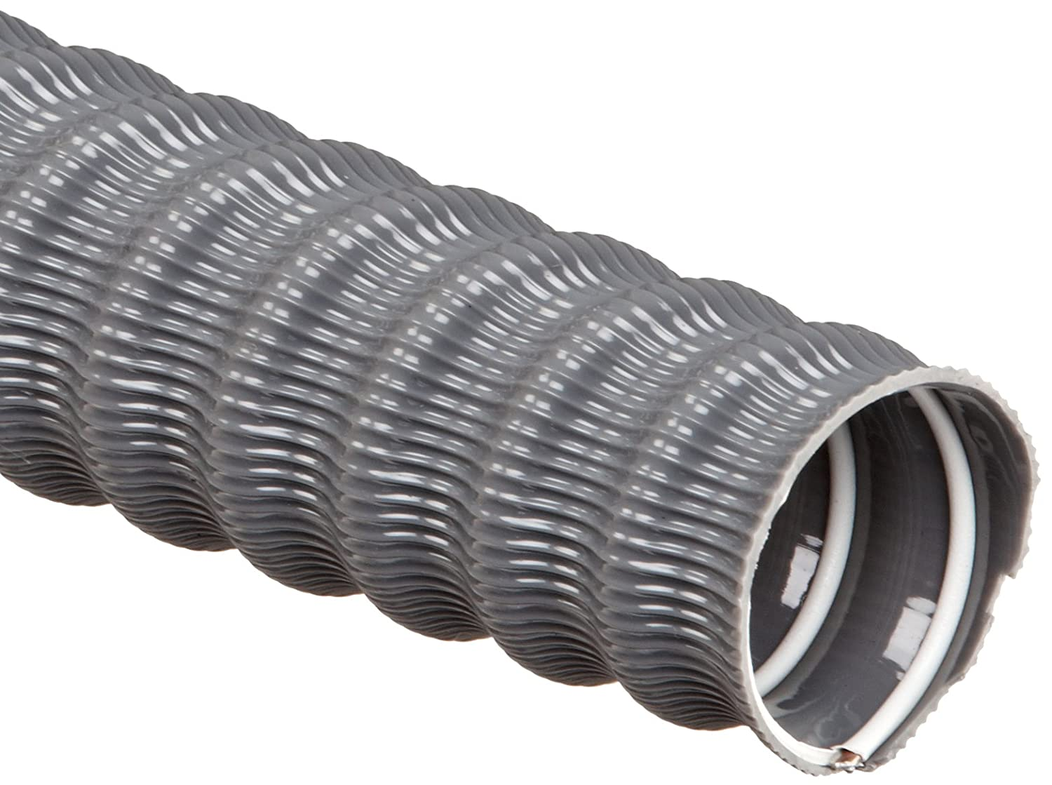 Dayflex MG-V PVC Duct Hose, Gray, For Use With Air, Fume, Dust, Chips, Shavings FLECW