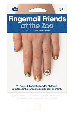 Npw Girls Stick On Nail Art Stickers Decals Zoo Animals