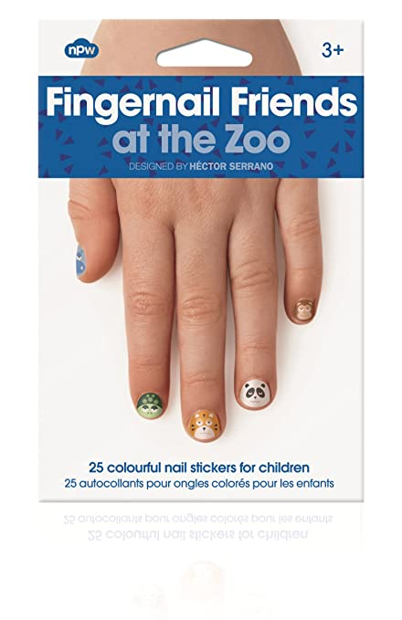 Amazon.com: NPW-USA at The Zoo Fingernail Friends Nail Stickers (25 ...