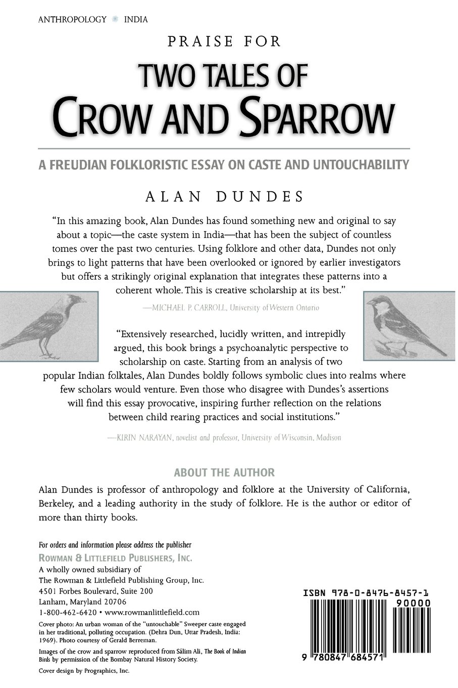 two tales of crow and sparrow a freudian folkloristic essay on two tales of crow and sparrow a freudian folkloristic essay on caste and untouchability amazon co uk alan dundes 9780847684571 books