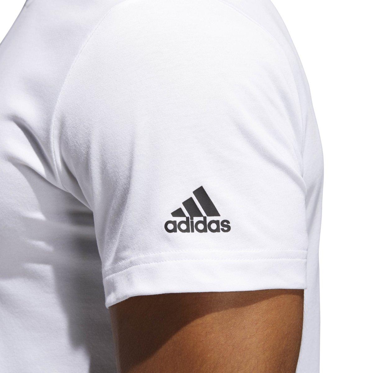 4817fa8d6 Amazon.com  adidas Men s Harden Shadow Tee White Medium  Sports   Outdoors