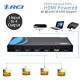 Orei UltraHD 4K @ 60 Hz 1 X 4 HDMI Splitter 1 in