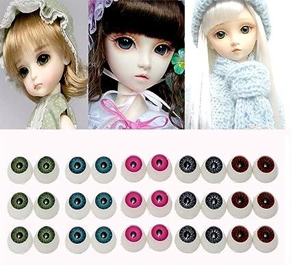 12mm X 4Pcs Doll Stuffed Doll Eyeball Half Round Acrylic Eyes Doll Bear Crafts