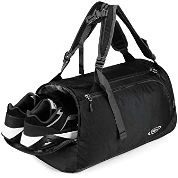3b3bf5b91 G4Free Lightweight Sports Bag Gym Bag Travel Duffel Backpack Weekend Bag  with Shoe Compartment