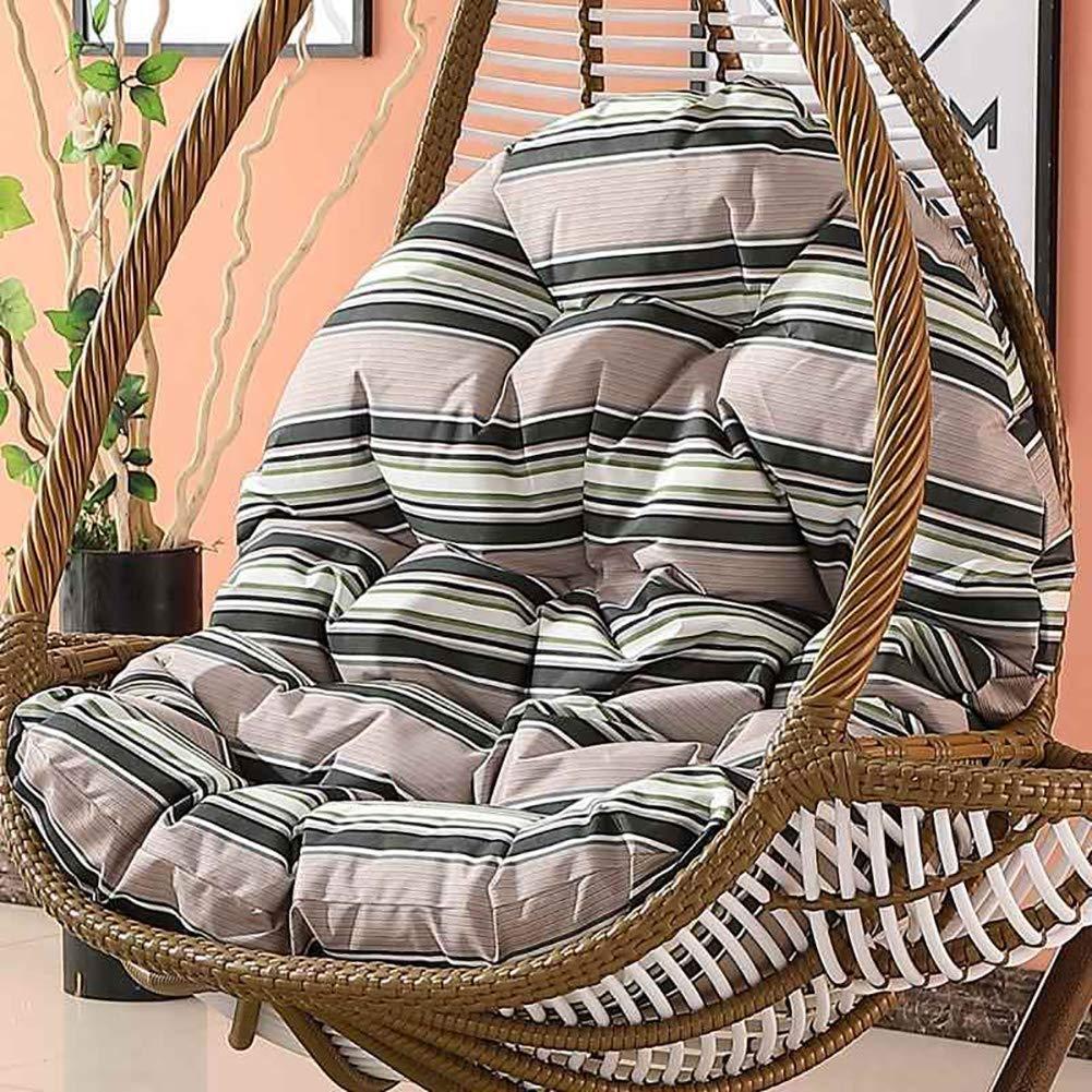 120 * 86 * 15cm YYBFG Outdoor H/ängesessel mit Gestell inklusive Polster und Kissen H/ängeliege H/ängestuhl Garten