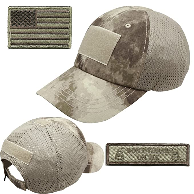 b45f25da743be Gadsden and Culpeper Operator Cap Bundle - w USA Dont Tread Patches (ATACS  Cap
