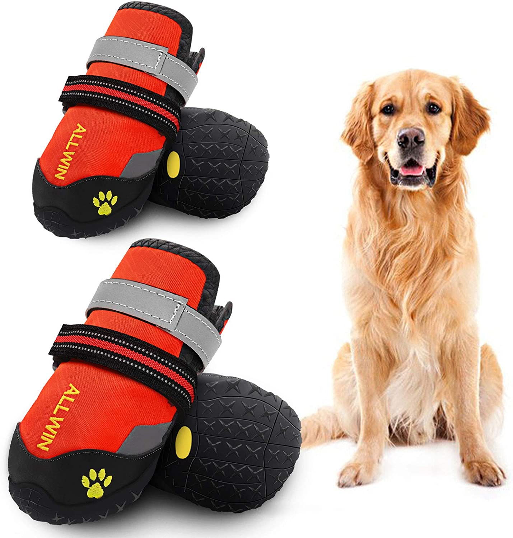 Pet Run shoes,Pet Walk Shoes 4Pcs Big dog shoes,Pet Shoes,Big Pet Dog Cat Shoes Boots,Protective Rubber Shoes Big Pet Boots,Pet boots