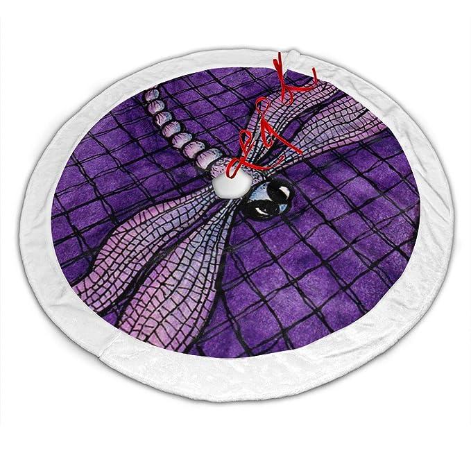 CZLXD Faldas para árbol de Navidad, diseño de libélula Morada ...