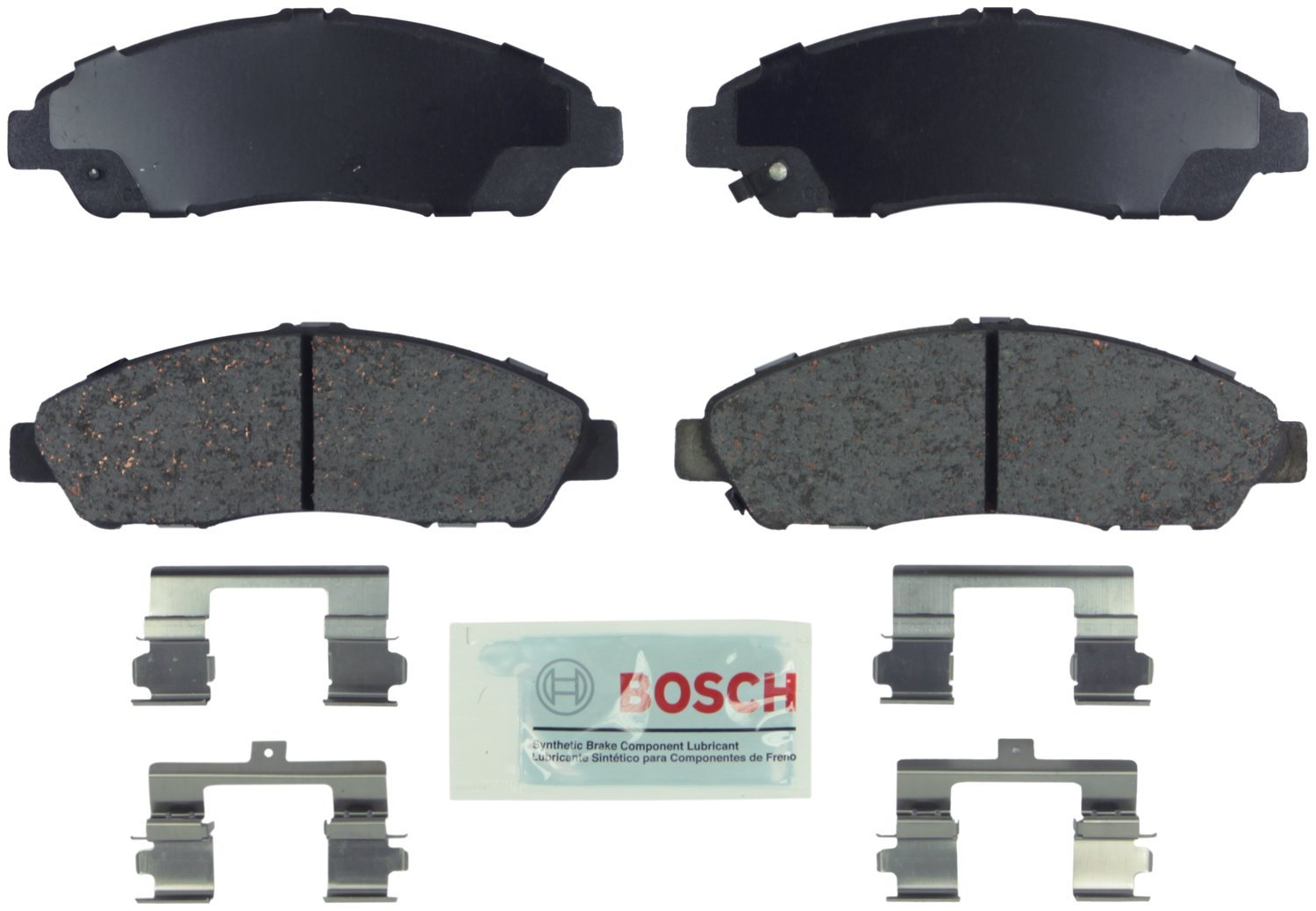 Bosch BE1280H Blue Disc Brake Pad Set with Hardware by Bosch