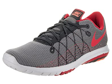 Nike Men's Flex Fury 2 Anthracite/University Red Running Shoe 5