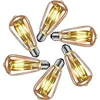 Edison vintage gloeilamp E27, LED vintage gloeilamp E27 4W, retro decoratieve Edison gloeilamp E27 warm wit, ideale…