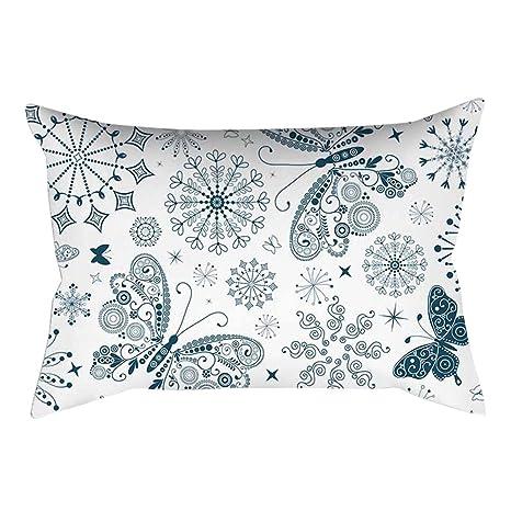 longyitrade - Funda de cojín de 30 x 50 cm, diseño de Mariposas, para sofá, Dormitorio, hogar, decoración, 3#, 30 x 50 Centimeters