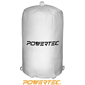 "POWERTEC 70001 Dust Collector Bag, 20"" x 31"", 1 Micron Filter"