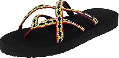 38c92b757 Teva Womens Olowahu Webbing Flip Flop Sandal Shoes