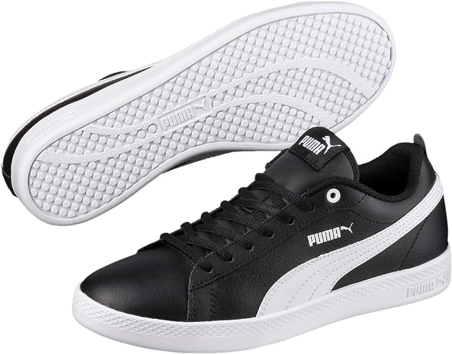 Puma Smash V2 L Sneakers Damen Schwarz mit weißen Streifen