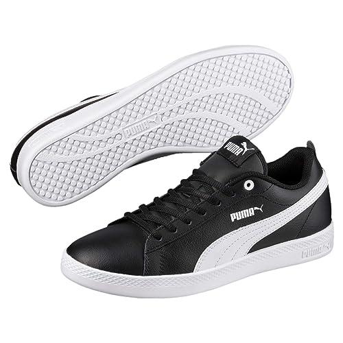 PUMA Smash v2 Leder Damen Sneaker Puma Black Puma White 3