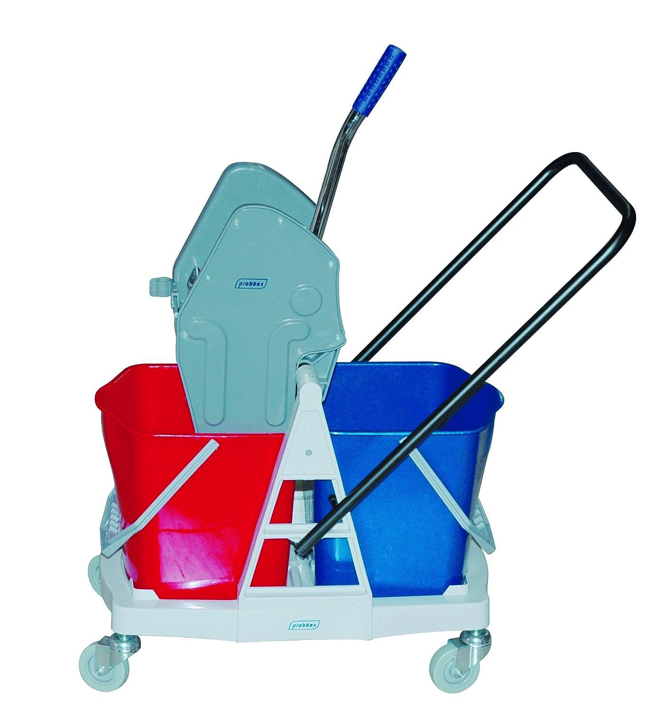 2/Buckets 18/L Thomas Washing Trolley Wheel with Jaw Press