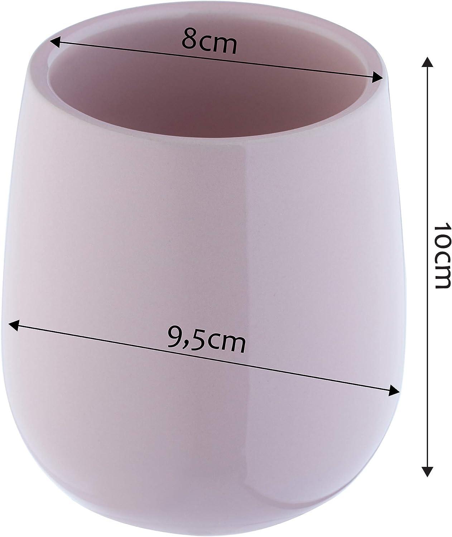 KADAX Vaso para cepillos de Dientes Soporte para Cepillo de Dientes Almacenamiento 9 x 9 x 10 cm Vaso Vaso para ba/ño para Cuarto de ba/ño Pasta de Dientes cer/ámica Vaso Cepillo de Dientes