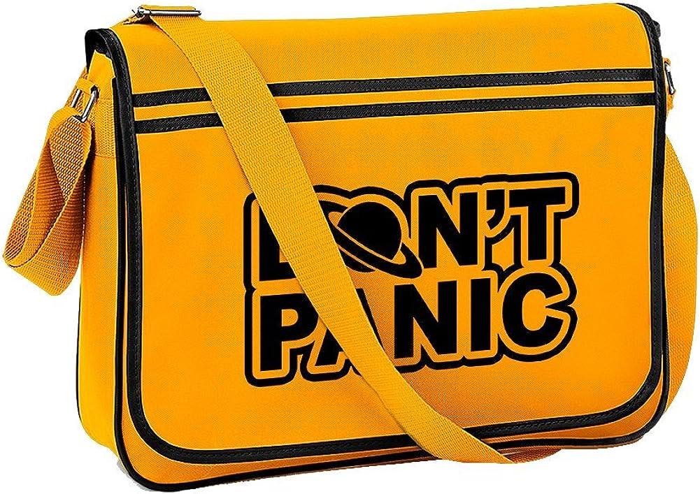 DONT PANIC Space Sci fi inspired Messenger Mens Shoulder Bag