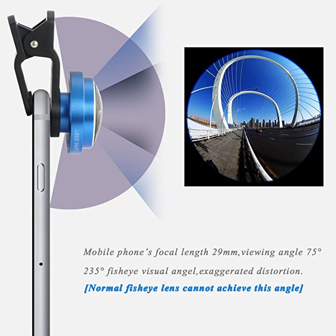 Kit de lente de cámara universal 2 en 1 para Smartphone, estilo clip (Mactrem gran angular y lente macro)