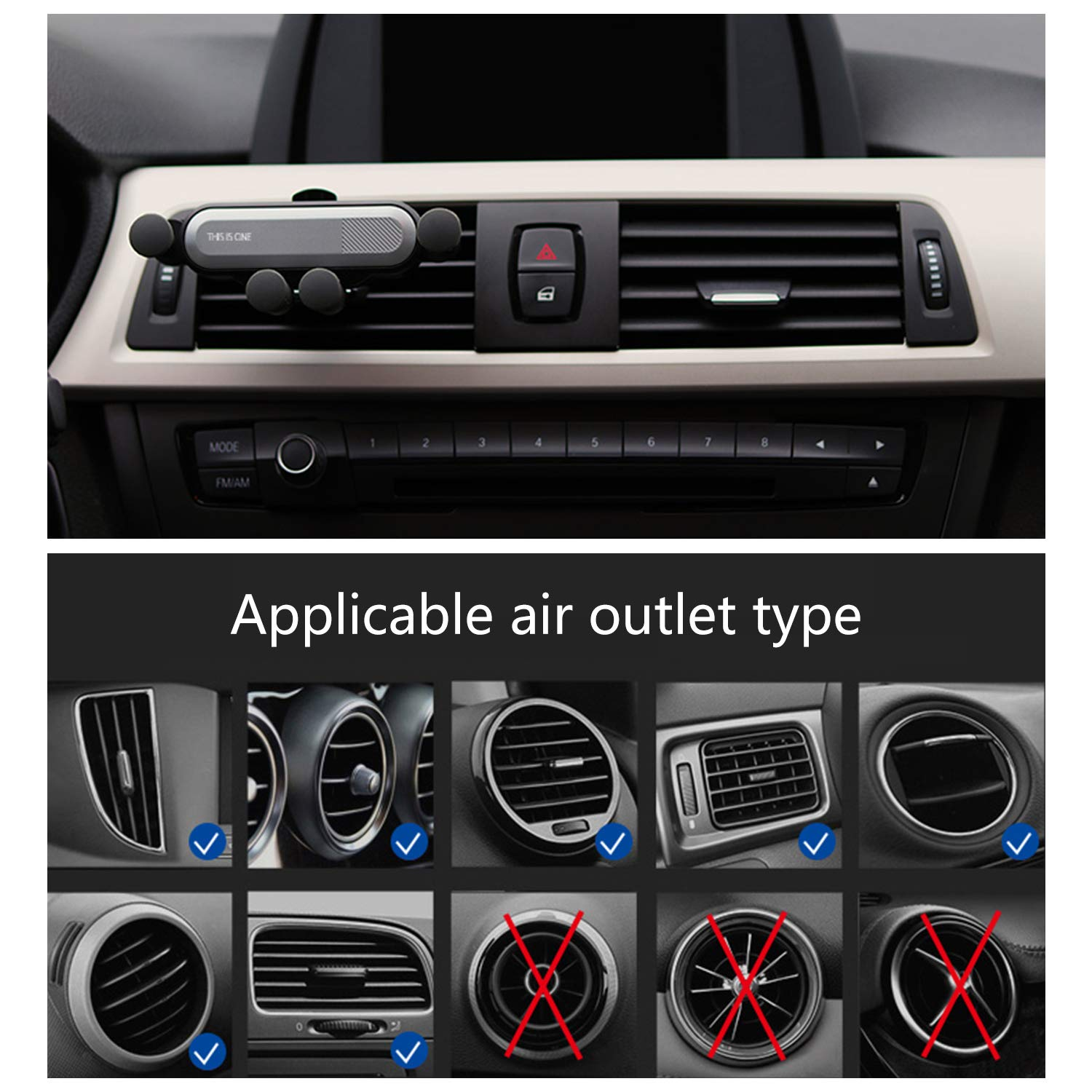 Universal Smartphone Car Air Vent Mount Phone Holder Gradle Super Clamping Stable for iPhone Xs XS Max X 8 8 Plus 7 7 Plus SE 6s 6 Plus 6 Samsung LG Nexus Sony GPS Tablets ZXK CO Car Phone Mount