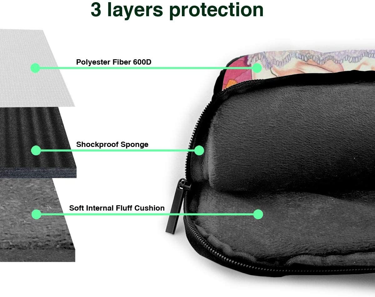 Laptop Shoulder Bags Polyester Messenger Carrying Briefcase Sleeve with Adjustable Depth at Bottom 15.6 inch The Quintessential Quintuplets Nakano Nino Laptop Bag Laptop Messenger Bag