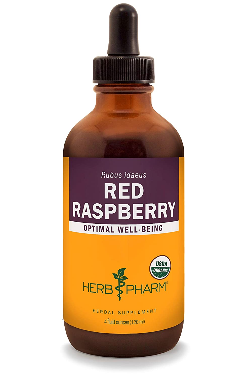 Herb Pharm Certified Organic Red Raspberry Liquid Extract – 4 Ounce