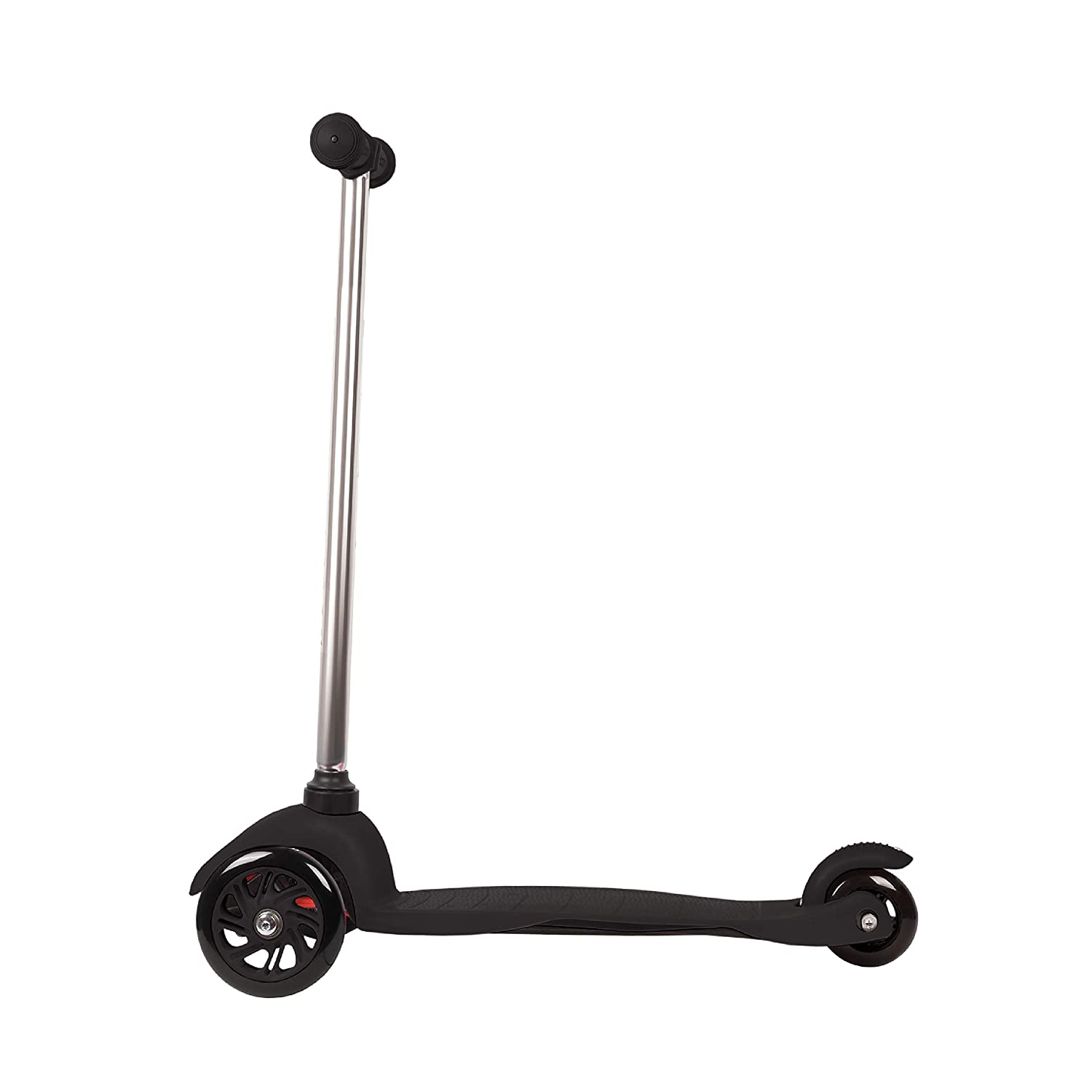 Rugged Racers Black Kick Scooter for Boys & Girls 3 Wheel Scooter, Kick Scooter for Kids with PU Wheels, Step Brake, Lean 2 Turn, Ride on Toys for ...