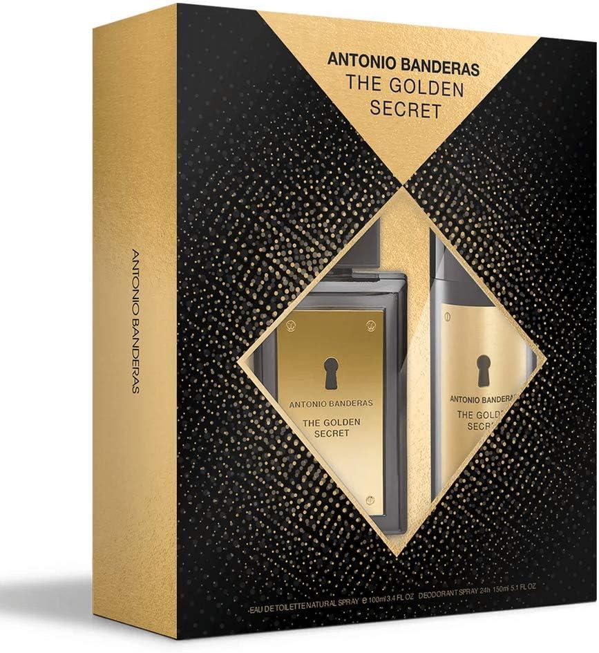 Banner Kit masculino The Golden Secret Antonio Banderas EDT 100ml  + desodorante