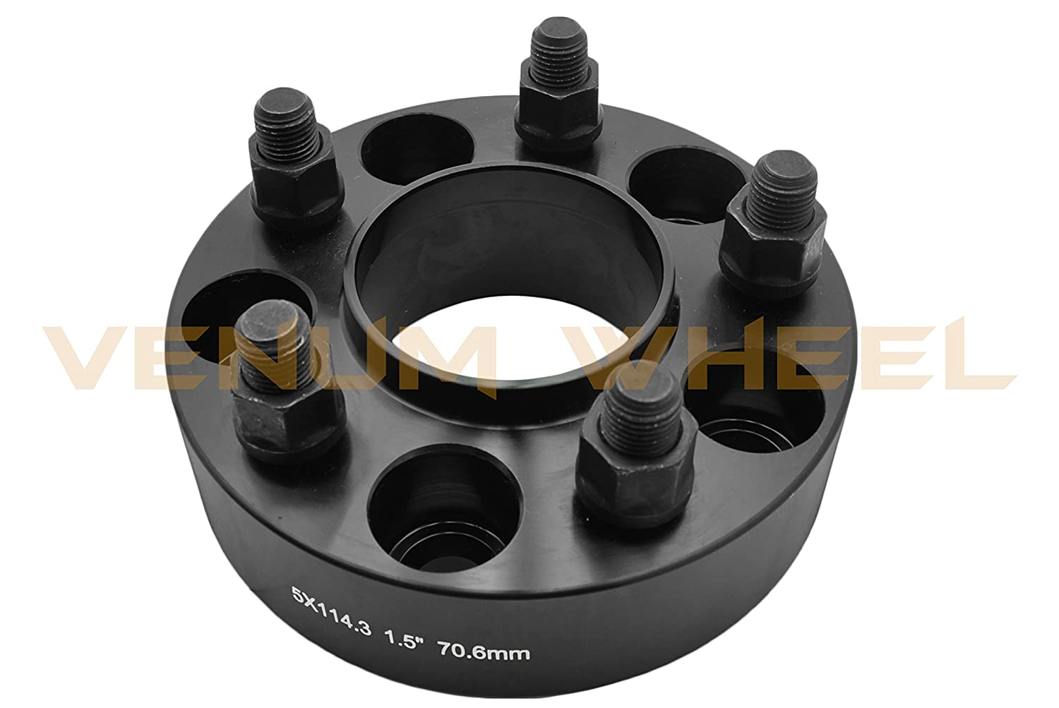 2 Pc New Model Mustangs 1.5 Black Hub Centric Wheel Spacers Adapter 5x4.5 5x114.3mm fits All Models
