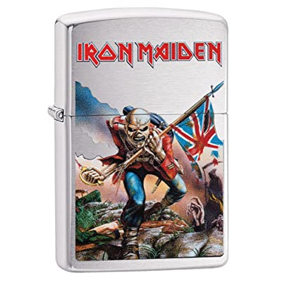 Zippo Iron Maiden Trooper coupe-vent léger – Chrome brossé